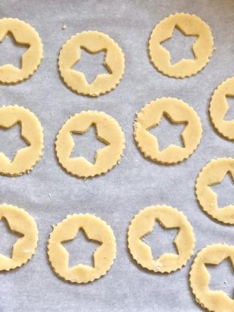 linzer star cutouts
