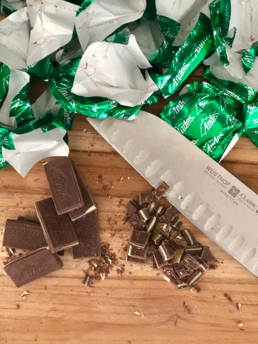 chopped andes mints